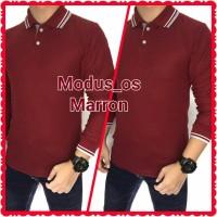 Polo Shirt lengan panjang/ Poloshirt lengan panjang marron