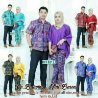 harga Baju Pasangan Batik Couple Sarimbit Seragam Pesta Hijab Muslim Modern Tokopedia.com