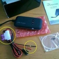 Alat Lacak Kendaraan GPS Tracker GT02A/TK110 Free Server Orange Dyegoo