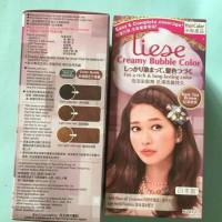 liese creamy bubble color rose tea brown