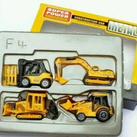 Jual mainan anak laki diecast mobil konstruksi construction car truck set Murah
