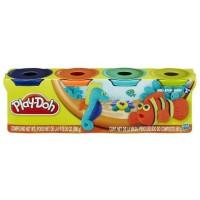 Jual Play-Doh 4 - Pack of Bold Colors (560g) Murah