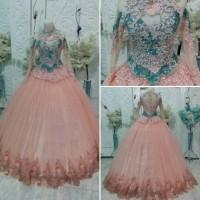gaun pengantin semi kebaya modern model barbie