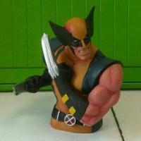 Jual Celengan Vinyl Wolverine Coin Bank Bahan Vinyl Anti Pecah Murah