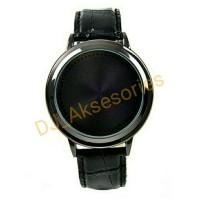 Jam tangan YBC Biru Tampilan Cahaya Waktu Untuk Pria/wanita Hitam