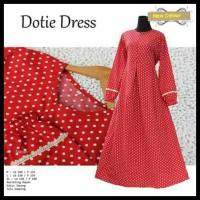 Jual Gamis Katun Jepang Polka Dress Busui Friendly/Baju Gamis Jumbo Murah