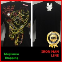 Jual Kaos Distro Baju Super Hero Superhero Marvel IRON MAN Line Murah