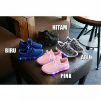 Jual Sepatu Anak LED Import Adds Yezzy Raindop Keren Lampu Full size 26-30 Murah