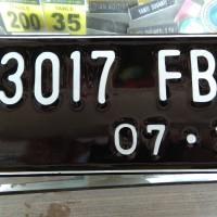 Plat Nomor Motor Standar Logo Polisi samsat