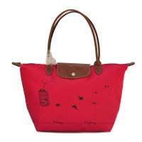 Authentic Longchamp Le Pliage Large Tote Bag Sangkar - pink