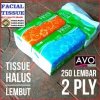 tisu paseo - tissue facial wajah - 250 sheets 2 ply's (eceran/grosir)