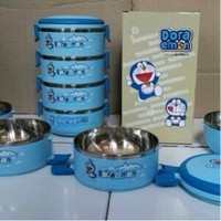 Jual Lunch Box Rantang 4 susun Doraemon / Hello Kitty / Tempat Makanan LARI Murah