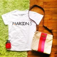 Jual Kaos Wanita Maroon 5 Murah