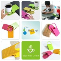 Jual Plastic Table Coffee Cup Holder Cup Clip tempat minum meja Murah