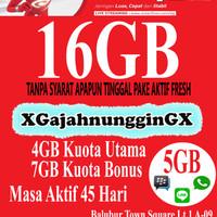 Jual Kartu Perdana Internet Smartfren 4G LTE 16GB 1 BULAN Murah Bandung Murah