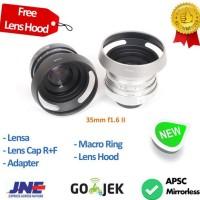 Lensa mirrorless 35mm f1.6 II-U CCTV Lens sony,eosm,nikon,m43,fuji