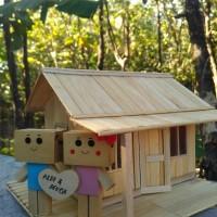 Jual Lampu Hias Tidur Miniatur Rumah Diorama Kado Ulang Tahun Unik Danbo Murah