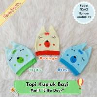 Topi Kupluk Bayi Newborn Motif Little Cat Lucu