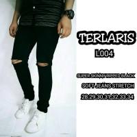 Jual Celana Jeans Celana Panjang Ripped Black Super Skinny Murah