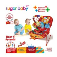 Jual Sugar Baby Bouncer 3 Recline Bear n Friends BCR30004 Merah Tempat Tidu Murah