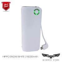 Jual HIPPO Power Bank Snow White 2 6000 MAh Simple Pack Original Garansi Murah