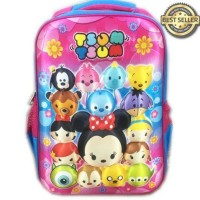 Hot Deal Tas Ransel Sekolah Anak Sd Tsum Tsum Mickey Minnie 3D Timbul