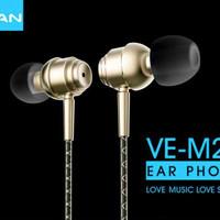 Jual [HOT SALE] Vivan Headset Ve-M20 Superbass Wired Headset Golden  - TCP2 Murah