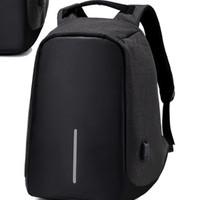 Jual Tas Ransel USB Port Charger, Smart Backpack Anti Maling Murah