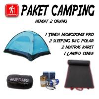 Jual Paket Camping Pendaki 2 Orang Hemat Tenda Matras Sleeping Bag Lentera Murah