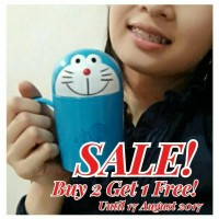 Jual Gelas / Mug Hello Kitty, Bear, Doraemon, dll. Murah