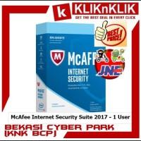 harga Mcafee Internet Security Suite 2017 - 1 User Tokopedia.com