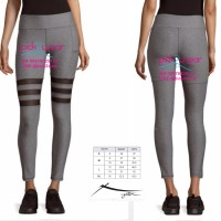 Jual Celana Senam Legging Yoga Gym Zumba Heather Grey Triple Mesh Murah