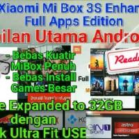 Jual * ROOTED * Xiaomi Hezi Mi Box 3S PRO 3 Enhanced 4K Android Smart TV Murah