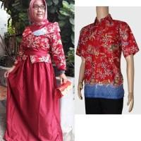 Jual Couple batik sarimbit gamis baju pesta pasangan seragam SRG 600 Murah