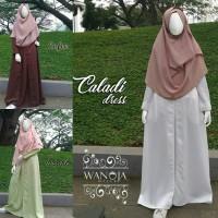 CALADI Dress - Gamis Syari Premium Picasso - ORI by Wanoja Hijab Busui