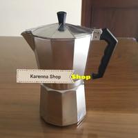 Jual Moka Pot / Espresso Pot / Espresso Coffee Maker /Alumunium(6cup/600ml) Murah