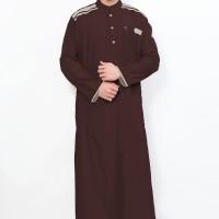 Jual Jubah Muslim Gamis Pria Cordova Maroon AL-ISRA Murah