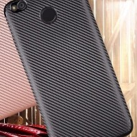 BLACK CARBON Xiaomi Redmi 4X Case softcase TPU Casing Silicone HP