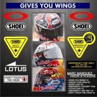 Sticker Cutting / Stiker Visor Helm Shoei - 93 Marc Marquez