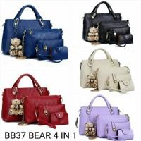Jual Tas Wanita Import Tas Pesta Branded Tas Set 4, prada look BB37 4 IN 1 Murah