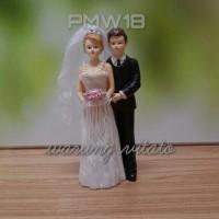 TOPPER KUE / WEDDING CAKE / HIASAN PAJANGAN BAHAN FIBER 21CM PMW18