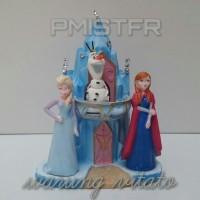 Frozen Anna & Elsa - Cake Topper / Hiasan Kue - Bahan Fiber PMISTFR