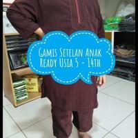 Jual Baju Muslim Anak / Gamis Set Anak Usia 5 - 6 Tahun / Warna Maroon Murah
