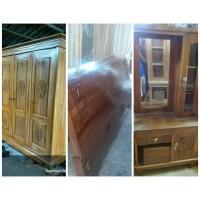 kamar set minimalis kayu jati asli