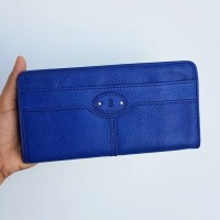 dompet fossil maddox zip long wallet vintage