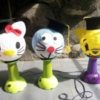 Jual lampion benang karakter Doraemon free tempel nama atau ucapan Murah