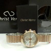 Christ Verra 52537G Jam Tangan Pria Christ Verra Original