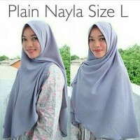 Jual Hijab jilbab kerudung Plain Nayla size L Murah