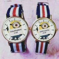 Jual jam tangan couple minion bisa custom nama tulisan atau foto HARGA SATU Murah