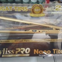 Catok / Catokan rambut Babyliss pro nano titanium gold super tipis